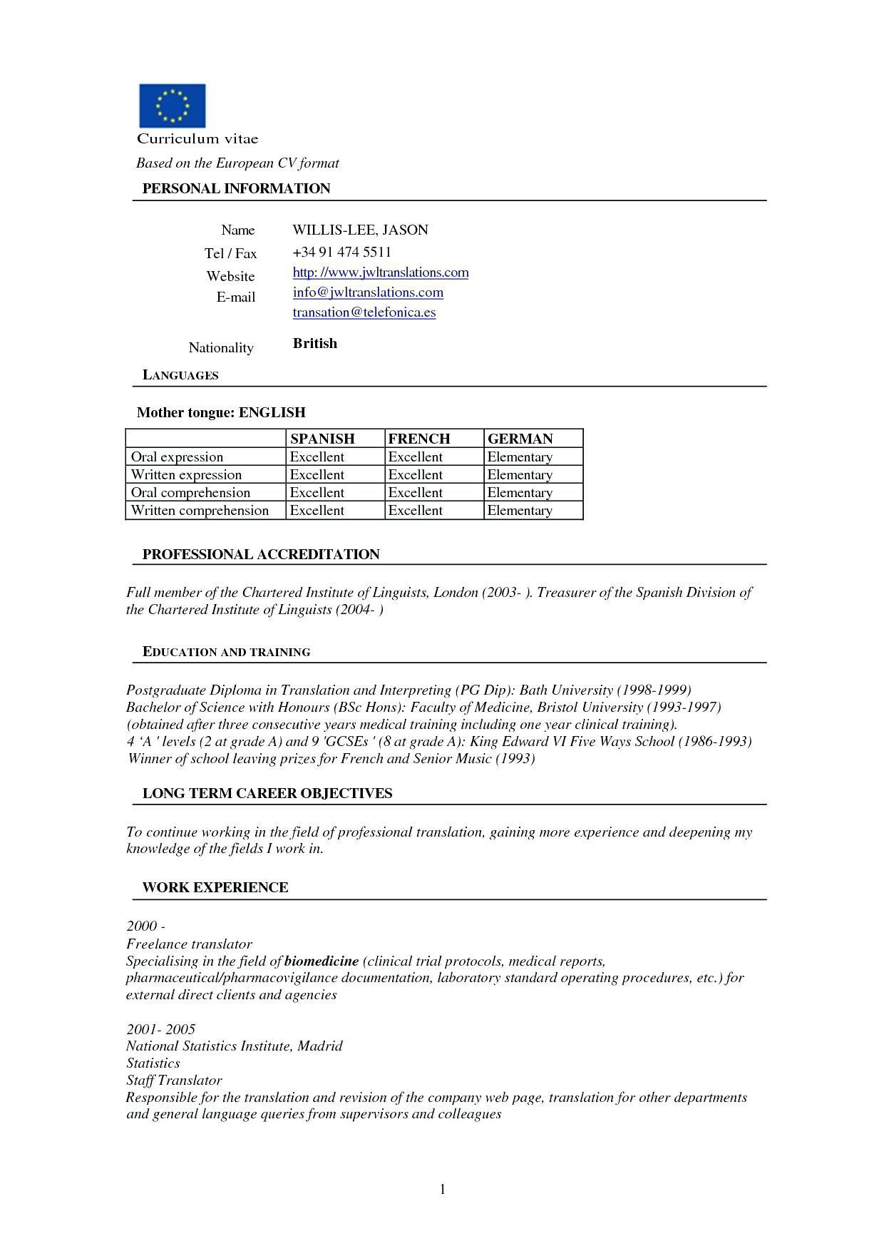 Resume format for freshers Resume template word Resume format Resume Resume templates