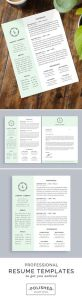 Free Cover Letter Template Layout Of Professional Resume Template and Cover Letter for Word and Pages E Page Instant Download Creative Resume