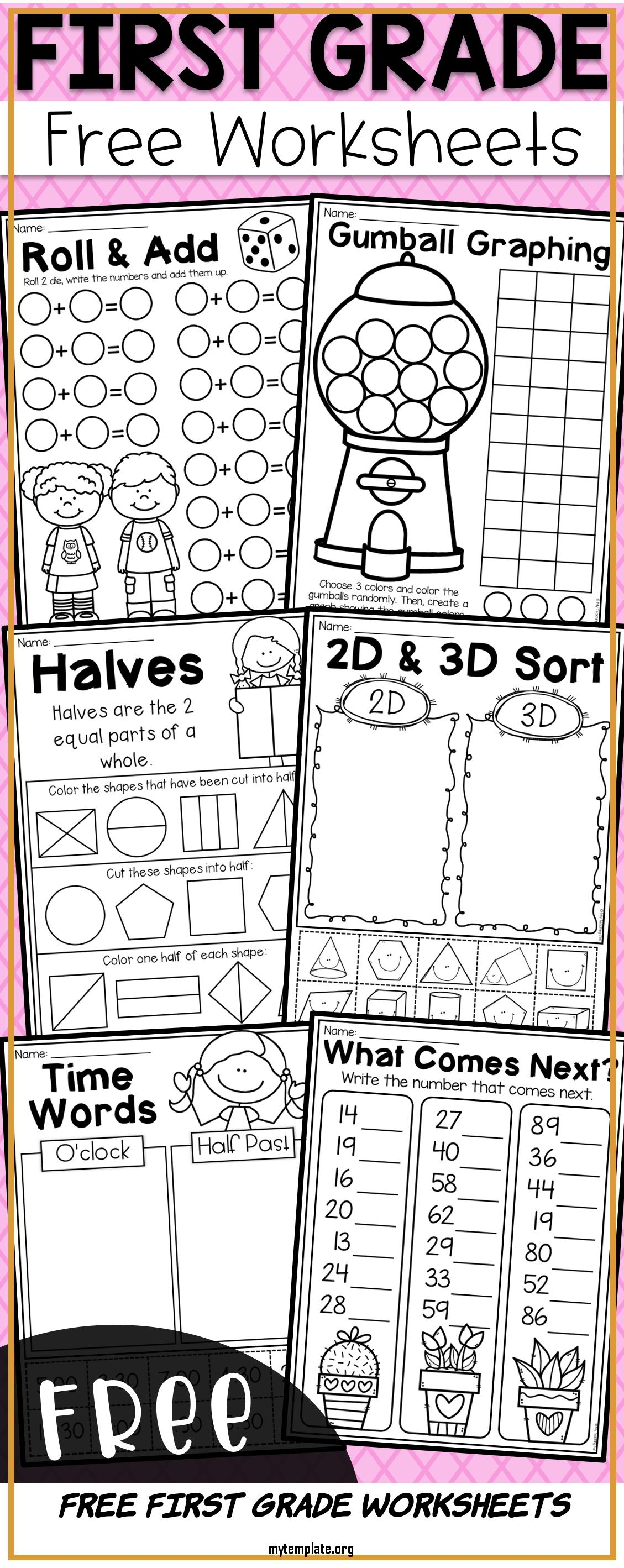 Free First Grade Worksheets Of Free First Grade Math