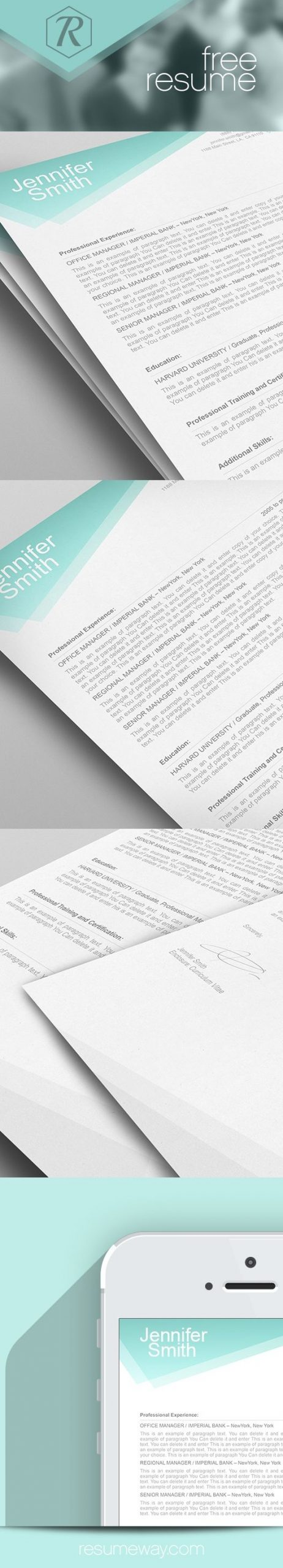 FREE Resume Template Premium line of Resume & Cover Letter Templates edit with MS Word Apple Pages resume free resumes resumes