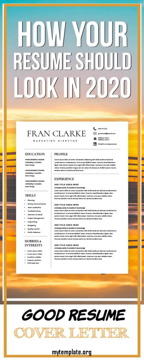 7 Good Resume Cover Letter Free Templates