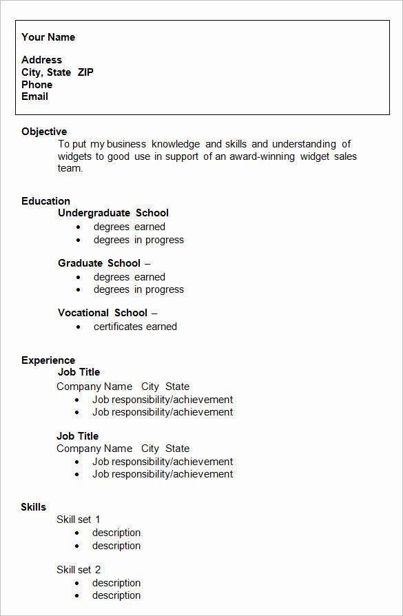 graduate school application resume of resume template