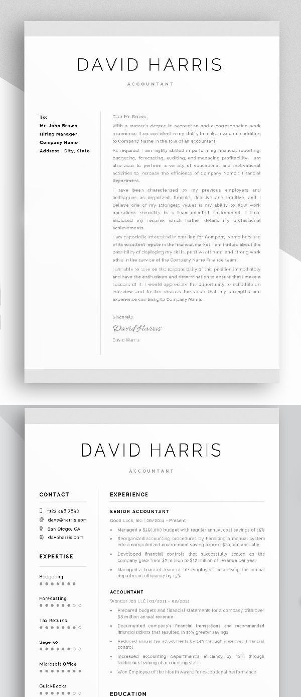 Accountant Resume Cover Letter