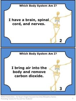 Human Body Systems Task Cards Science Distance Learning Packet Digital Print