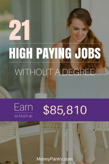 21 Highest Paying Jobs Without a Degree Earn as much as $85 810