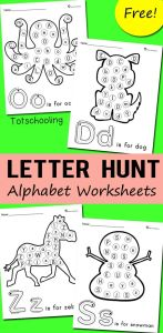 Letter Recognition Activities Printables Alphabet Worksheets Of Alphabet Letter Hunt Worksheets