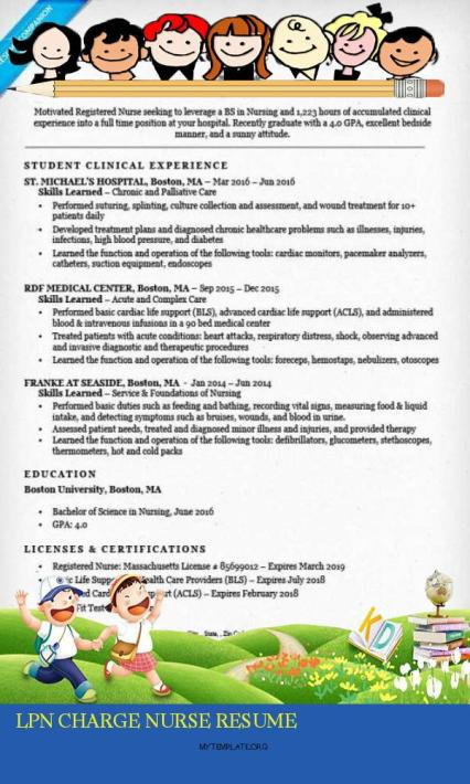 6 Lpn Charge Nurse Resume Free Templates
