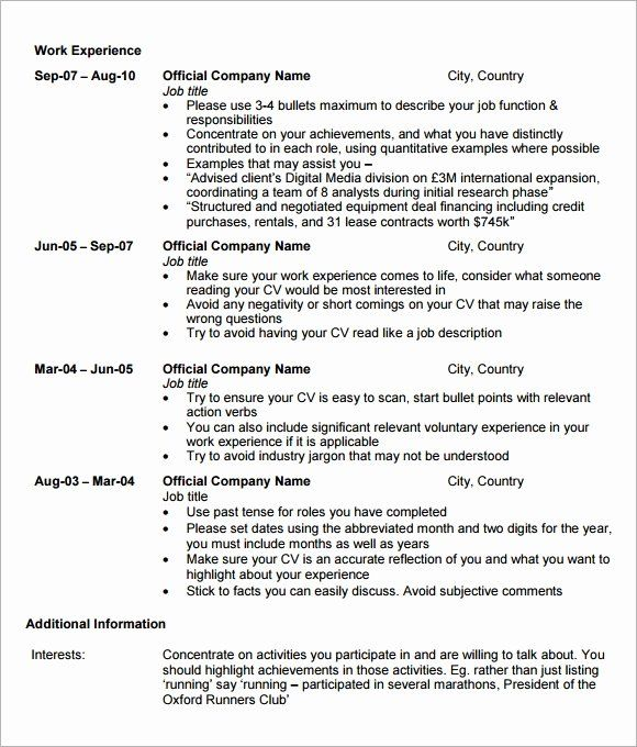 Mba Application Resume Examples Beautiful Free 5 Sample Mba Resume Templates In Pdf