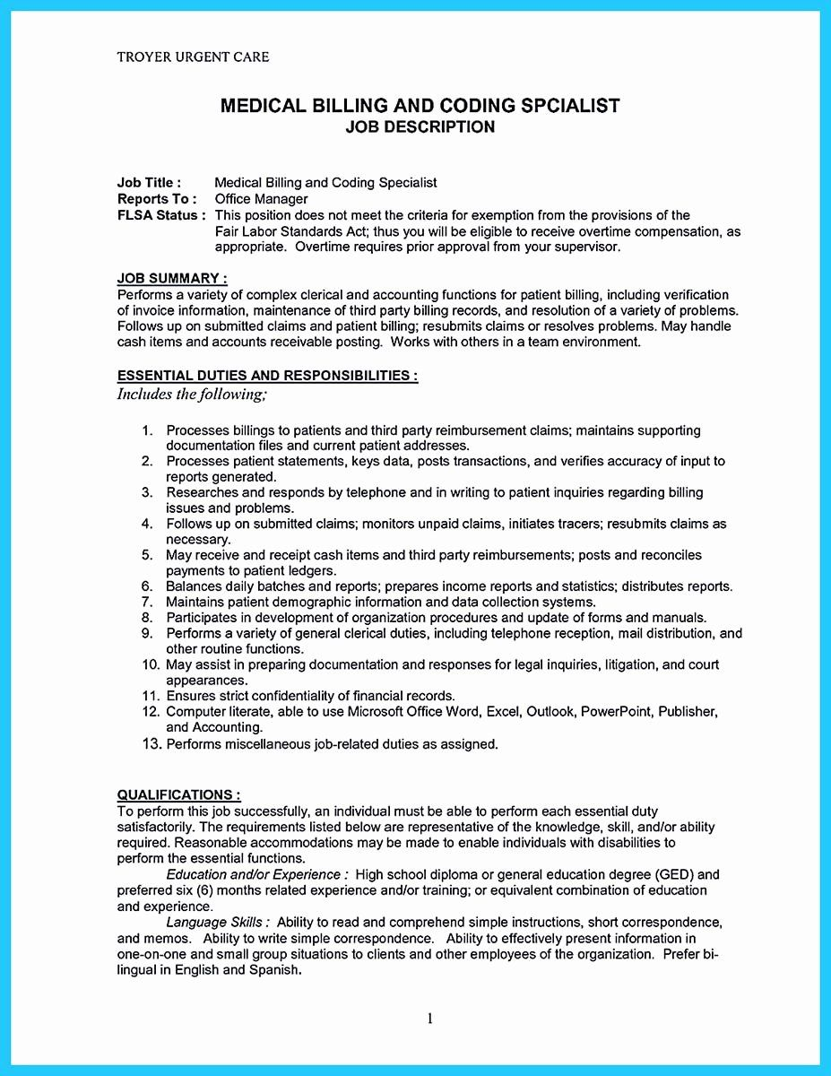 Medical Biller Resume Examples New Exciting Billing Specialist Resume that Brings the Job to You
