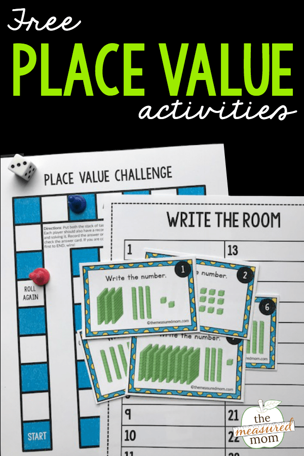 Free place value game for 2nd grade The Measured Mom