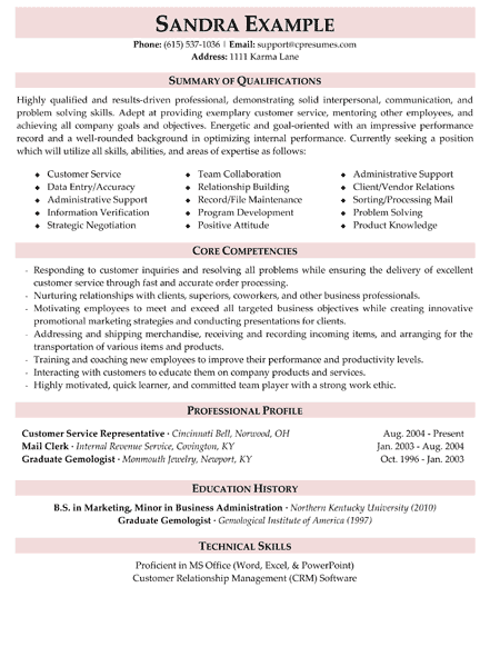 5 Star Resume Examples Resume Templates