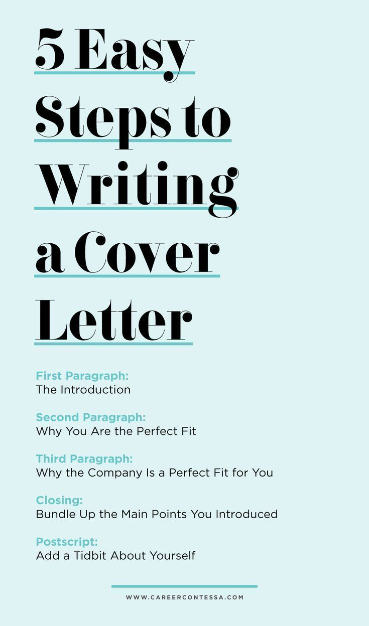 5 Easy Steps to Writing a Cover Letter