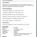 Resume format for Students Of Pany Secretary Fresher Resume format Fresher Resume format In Usa Download Resume format