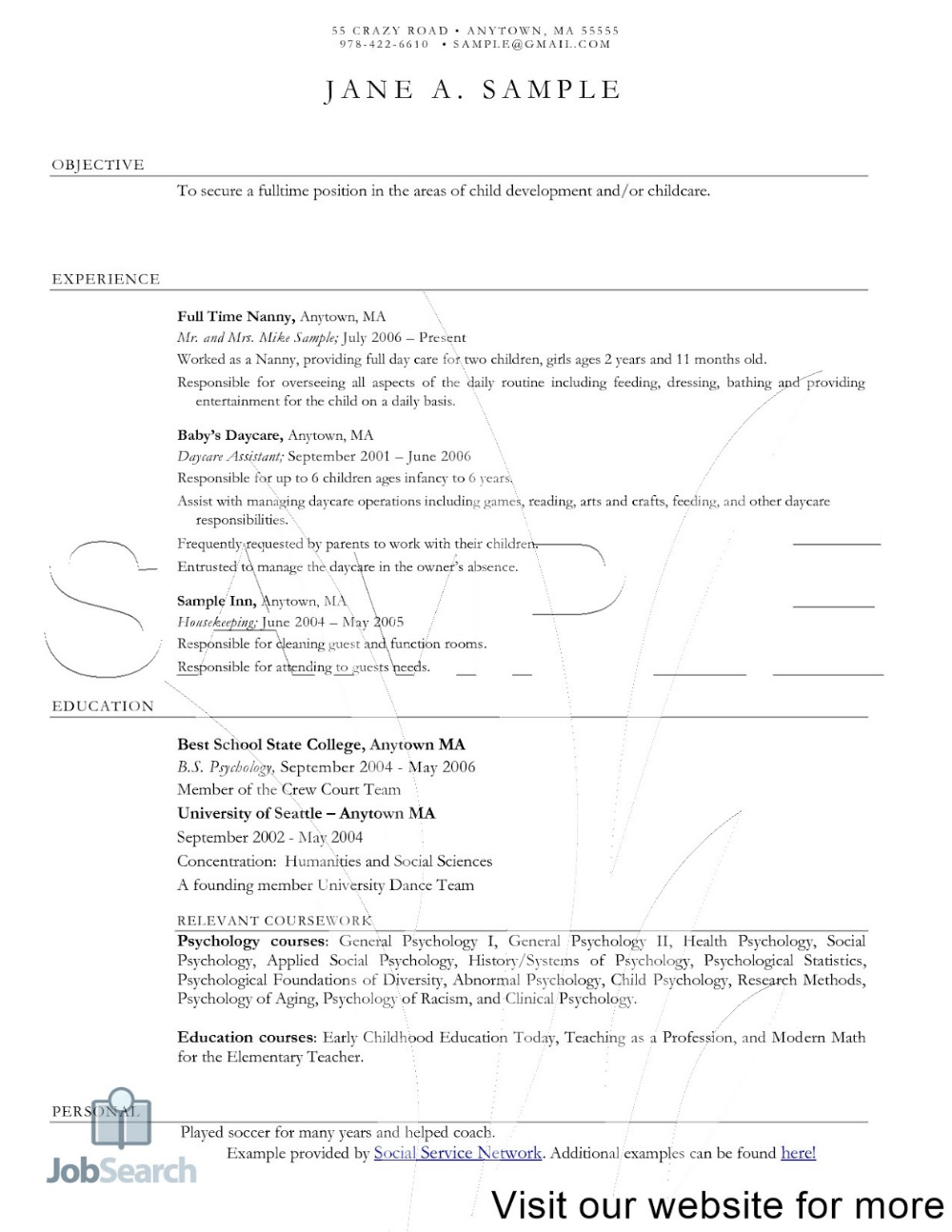 10 Resume Objective For Child Care Teacher Free Templates
