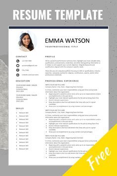 Free Resume Template with