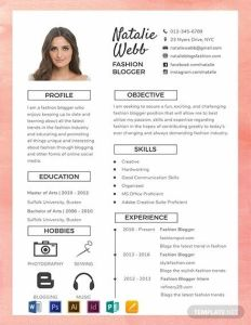 Resume Template Downloadable Free Of Free Best Fashion Cv Template Word Psd Indesign