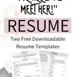 """Resume Template Free Downloadable Of the Resume Sections You Need to Take Your Resume From """"meh"""" to """"we Need to Meet Her """" with Love Becca"""