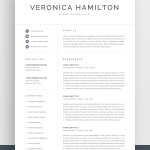 Resume Template Free Downloadable Simple Of Professional Resume Template 1 & 2 Page Resume Modern Cv Template for Word & Pages