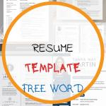 Resume Template Free Word Of
