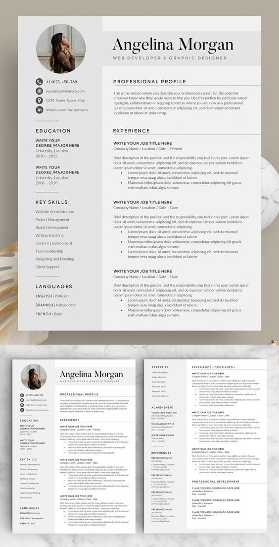 Professional resume template 2020 Download now