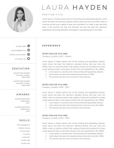 Resume Template Professional Free Microsoft Word Of