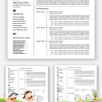 Resume Template Professional Free Microsoft Word Of Resume Templates Easy to Customize Line Templates