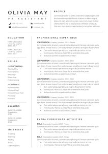 Resume Template Professional Simple Of