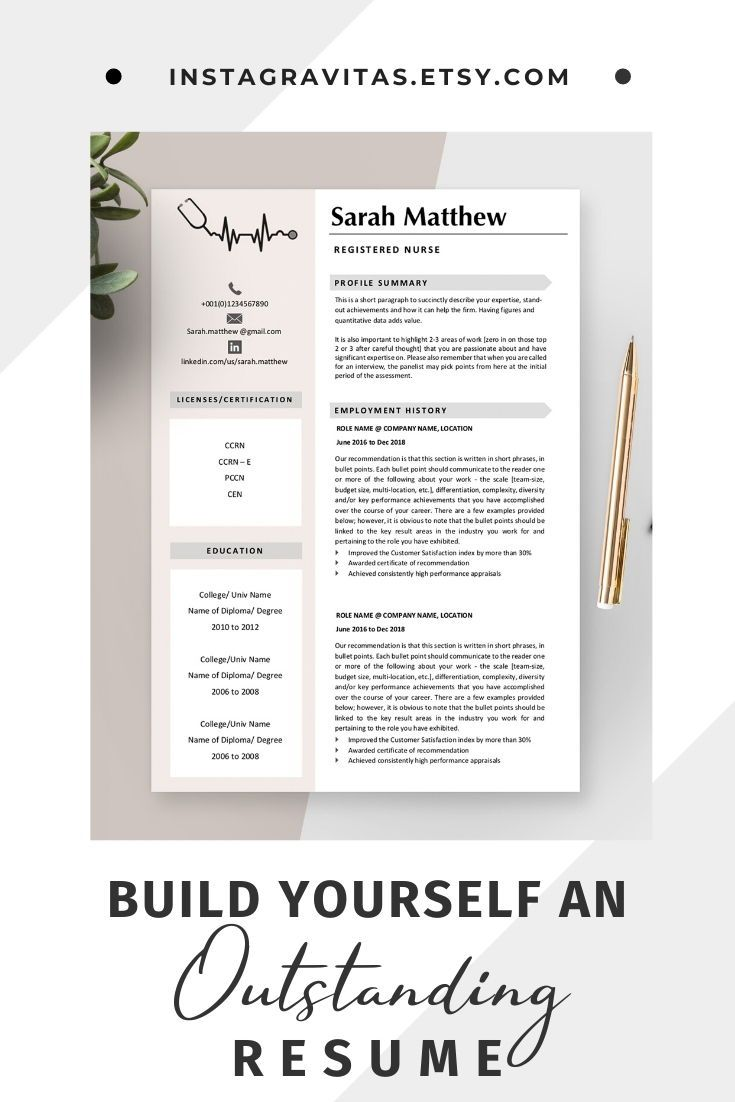 Registered nurse resume template for medical Medical resume template for nurse Nursing resume nurs