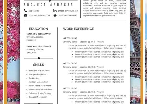 Resumes for Project Managers Of Resume Template Professional Resume Creative Resume Cv Template Modern Resume Resume Word Cv
