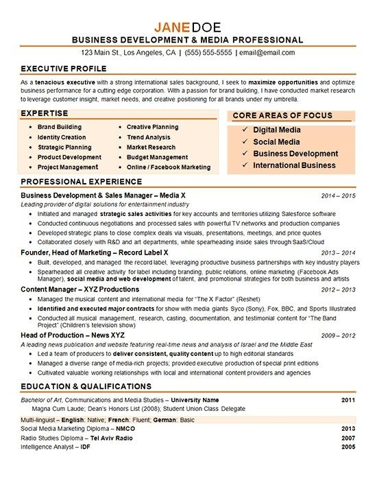 business development manager resume examples marketing