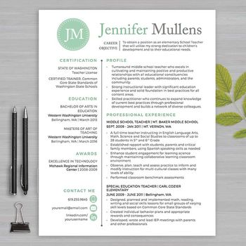 RESUME TEACHER Template For MS Word