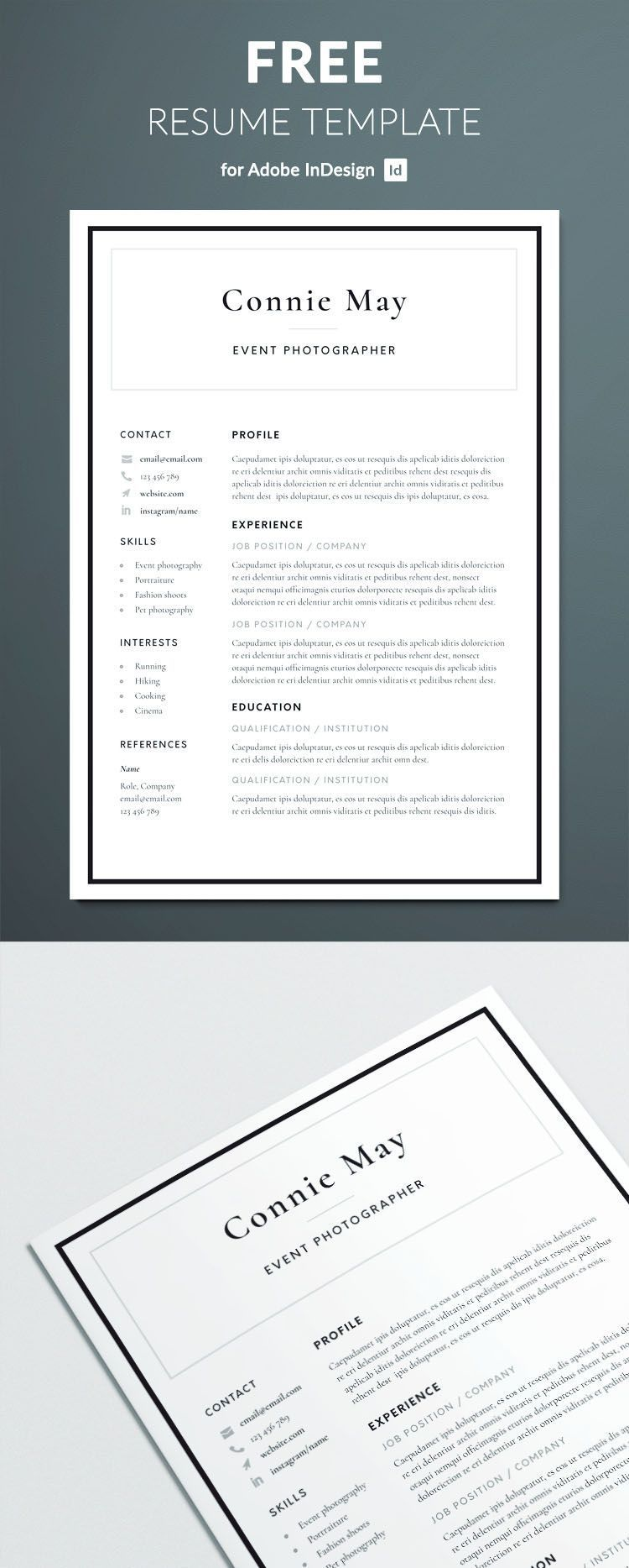 Simple Resume Template for InDesign