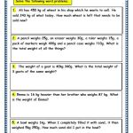 Subtraction Word Problems for Grade 3 Of Grade 3 Maths Worksheets 12 7 Word Problems On Grams and Kilograms