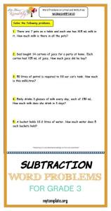 Subtraction Word Problems for Grade 3 Of Grade 3 Maths Worksheets 13 6 Measurement Of Capacity Word Problems On Litres and Millilitres