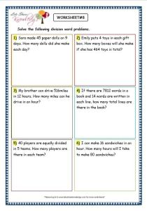 Subtraction Word Problems for Grade 3 Of Grade 3 Maths Worksheets Division 6 9 Division Word Problems