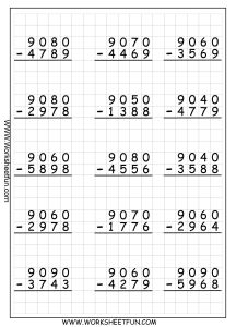 Subtraction Worksheets for Grade 1 Of 5 Free Math Worksheets First Grade 1 Subtraction Subtracting 1 Digit From 2 Digit No Regroupi