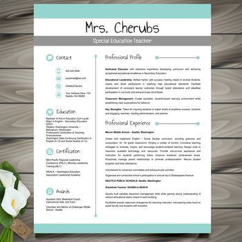 Resume Template Cover and Reference Letters Green POWERPOINT EDITABLE