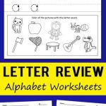Teaching Alphabet to toddlers Worksheets Of Letter Review Alphabet Worksheets