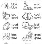 The Alphabet Worksheets Activities Of Oa Ow Worksheets & Activities No Prep