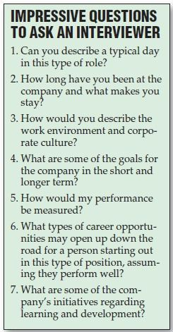 If you can t e up with questions you want to ask the employer