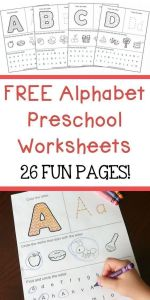 Worksheets for toddlers Alphabet Activities Of Free Alphabet Preschool Printable Worksheets to Learn the Alphabet