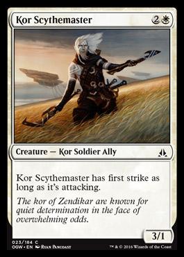 Kor Scythemaster Oath Of The Gatewatch Mtg Visual Spoiler
