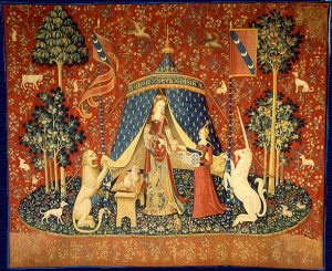 The Lady and the Unicorn Desire tapestry