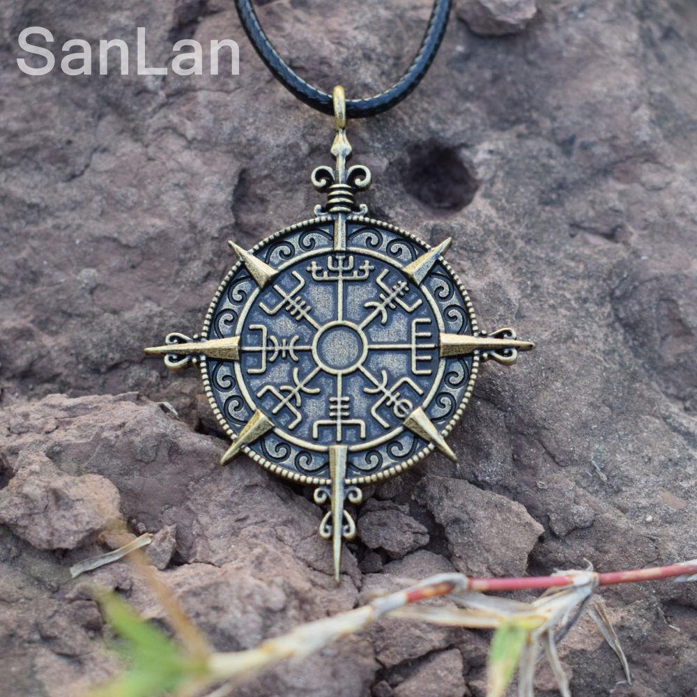 Viking awe helm compass protection symbol necklace mythology viking aloadofball Images