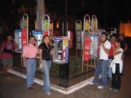 Six way telephone call