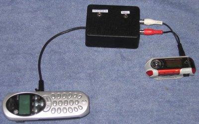 iRiver recording setup
