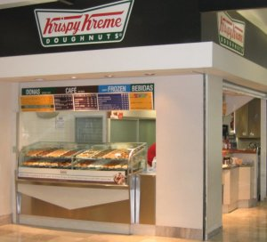 Krispy Kreme in the Mexico City airport