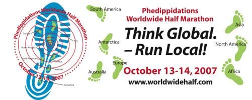 Phedippidations World Wide Half Marathon