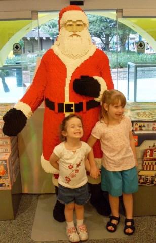 Santa made from Lego