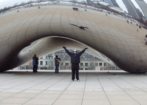 Me with the Bean
